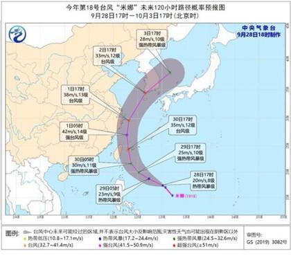 台风米娜已生成,将影响东部海区和华东沿海